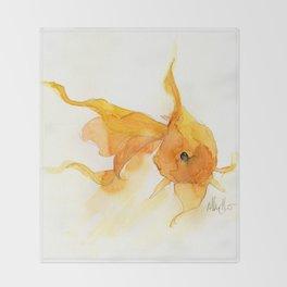 Watercolor Goldfish 1 Throw Blanket