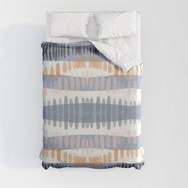 Tribal Watercolor Stripes Duvet Cover