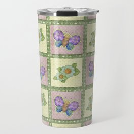 Butterfly Country Patchwork Travel Mug