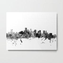 BostonSkyline Massachusetts Metal Print