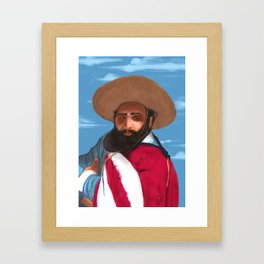 Jorge Cafrune - Argentine Folklore Musician/Singer Framed Art Print