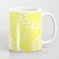 yellow pattern Mugs featuring Pattern Yellow by Wildflowers and Grace