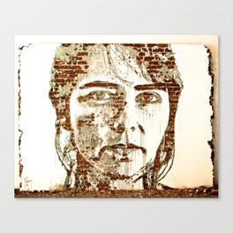 Scratching the Surface (Vhils) Canvas Print