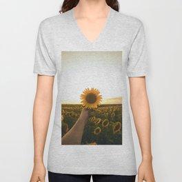Her Sunflower (Color) Unisex V-Neck