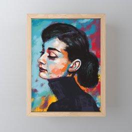 Audrey Hepburn - Fallen legends Framed Mini Art Print