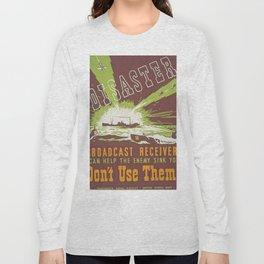 Vintage poster - Disaster Long Sleeve T-shirt