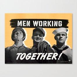 Men Working Together Canvas Print