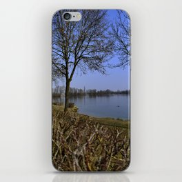 Looking at a lake in Laupheim iPhone Skin