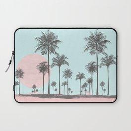 Beachfront palm tree soft pastel sunset graphic Laptop Sleeve