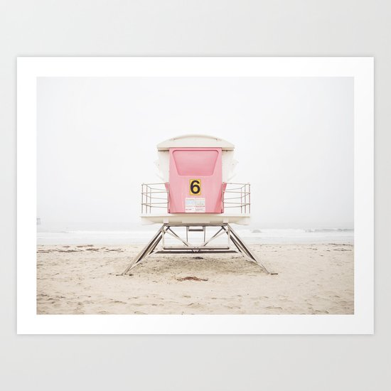 Beach photography pink tower by maddenphotography