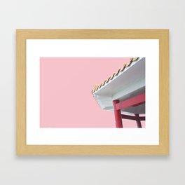 pastel temple Framed Art Print