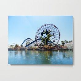 Paradise Pier - Mickey Ferris Wheel (Daytime no.2) Metal Print
