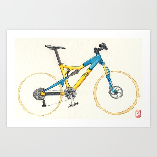 Coffee Wheels #13 Art Print
