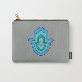 Humes hand in blue, Hamsa Carry-All Pouch
