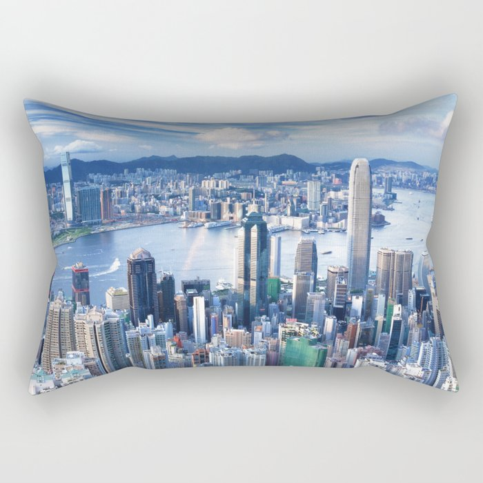 Hong Kong-Buildings Rectangular Pillow