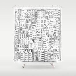 Coit City Pattern 1 Shower Curtain
