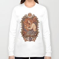 cosmic Long Sleeve T-shirts featuring COSMIC LOVER color version by Medusa Dollmaker