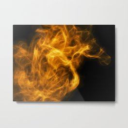 Don't Lose Your Fire. Metal Print