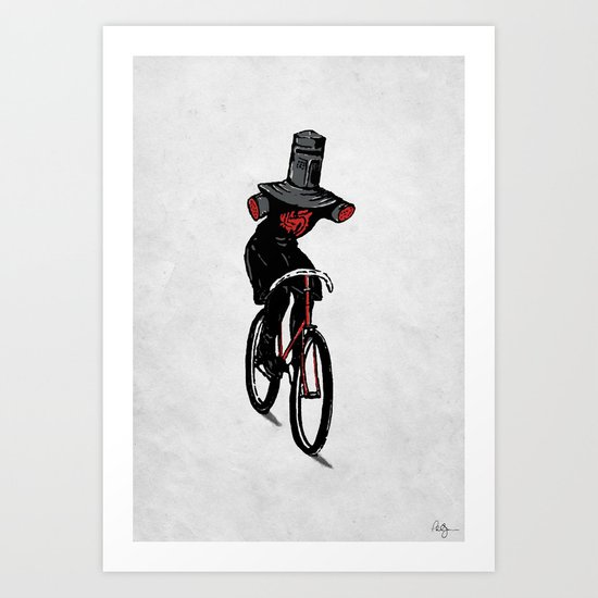 Look No Hands!  Art Print