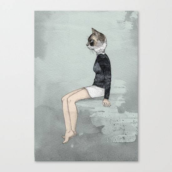 Cat Woman Canvas Print