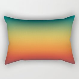 Colorful Trendy Gradient Pattern Rectangular Pillow