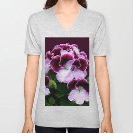 Pink, Purple, Flower Power Unisex V-Neck