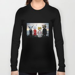 Dapper Animals Sunset Faces Long Sleeve T-shirt