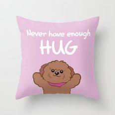 Hug poodle Throw Pillow
