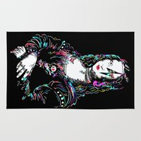 mona lisa Area & Throw Rugs featuring metal mona lisa by Vector Art