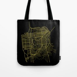 San Francisco Map Tote Bag