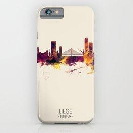 Liege Belgium Skyline iPhone Case