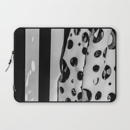 Holes And Stripes – Wallpaper And Leather Laptop Sleeve