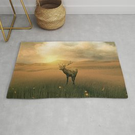 The deer into the lights Rug