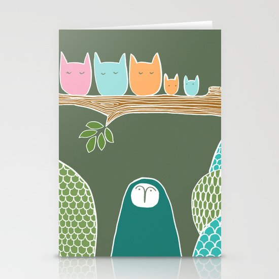 Sleepy Birds Stationery Cards