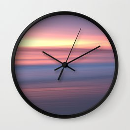 Pastel sunrise Wall Clock