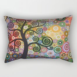Abstract Art Landscape Original Painting ... Tree of Wishes Rectangular Pillow