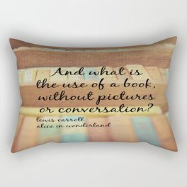 Book Alice Wonderland Rectangular Pillow