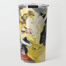 Paris masquerade ball 1896 by Chéret Travel Mug