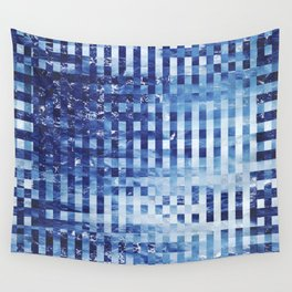 Nautical pixel abstract pattern Wall Tapestry