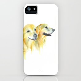 Harold and Daphne - golden retriever 2 iPhone Case