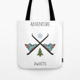 Adventure Awaits - Ski Tote Bag