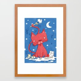 Catkaso Framed Art Print