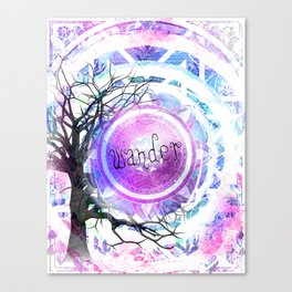 Wander in Violet Canvas Print