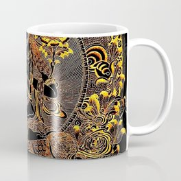 Manjushree Black Gold Thangka Coffee Mug