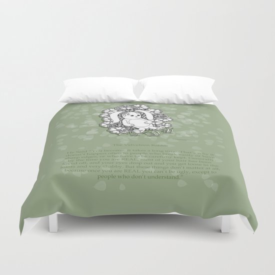 Velveteen Rabbit Wisdom Illustration for Children Duvet Cover