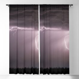 Summer Lightning Storm On The Prairie VI - Nature Landscape Blackout Curtain