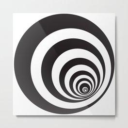 Black&White Spirally Metal Print