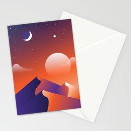 Jewel Desert Evening Stationery Cards