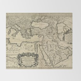 Map of the Ottoman Empire (1680) Throw Blanket