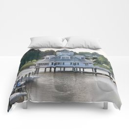 Building on a lake Comforters